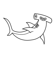 Hammerhead shark vector image vector image