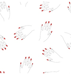 Hand drawn seamless pattern with woman arms vector image vector image