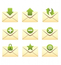 internet icons envelopes vector image