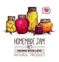 Jam jars poster vector