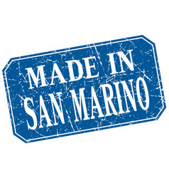 Made in san marino blue square grunge stamp vector