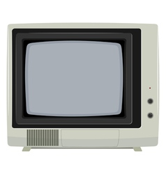 of an old tv set vector image