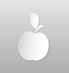 Origami apple vector
