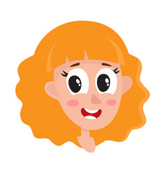 Pretty blonde hair woman wow facial expression vector