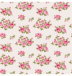 Seamless floral pattern with little roses vector image vector image