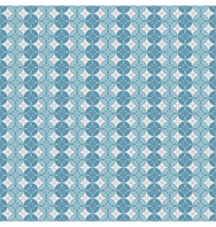 Seamless pattern with circles and abstract flowers vector image vector image