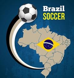 Soccer poster brazil vector