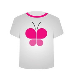 T Shirt Template- Butterfly vector image