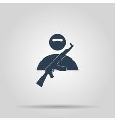 terrorist icon concept for vector image vector image