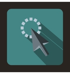 Trace from cursor icon flat style vector image