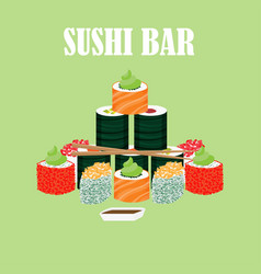 Traditional japanese food concept vector