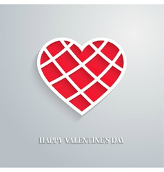 Valentines day card with cut heart vector
