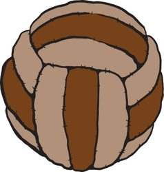 old soccer ball vector image