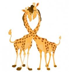 giraffes in love vector image
