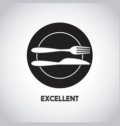 Languaje utensils isolated icon vector