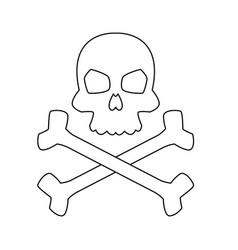 Computer virus concept attack detected skull vector