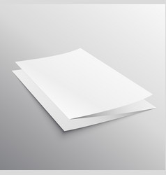 Folded paper brochure template in perspective vector