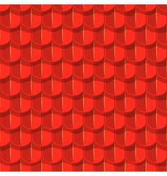 Seamless background red tile roof vector