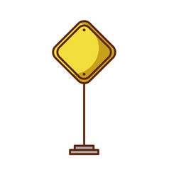 Traffic signal isolated icon vector