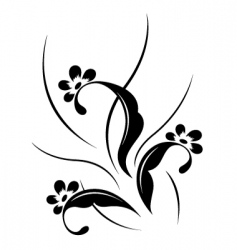 flower pattern tattoo vector image
