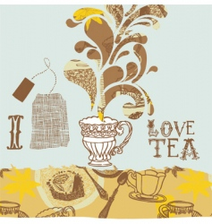 tea lovers background vector image