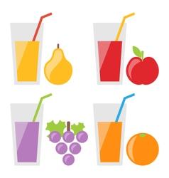 Set of Fresh Fruit Juices vector image