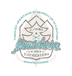 Mountain camp emblems for t shirt vector