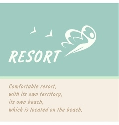Logo of the resort vector