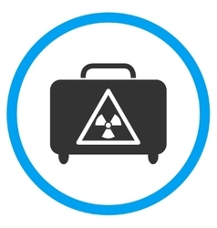 Dangerous luggage rounded icon vector