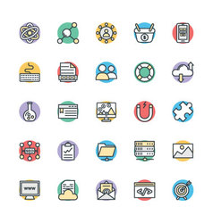 Seo and internet marketing cool icons 3 vector