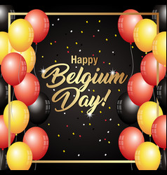Belgium national day celebration banner vector