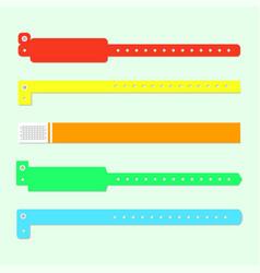 Bracelet wristband set vector