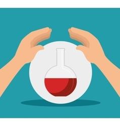 Chemistry flask bottle vector