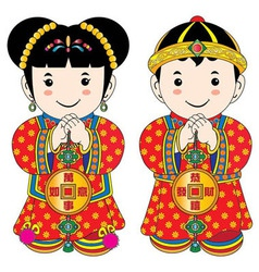 chinese cartoons vector image vector image