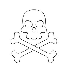 computer virus concept attack detected skull vector image