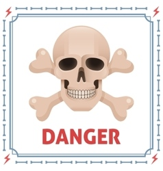 Danger symbol with skull and crossbones vector
