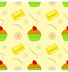 Dessert food pattern seamless patterns vector image