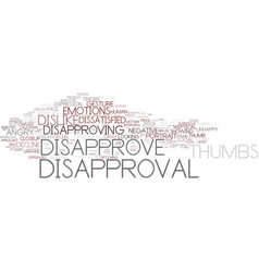 disapprove word cloud concept vector image vector image