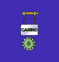 Flat shading style icon casino street banner vector