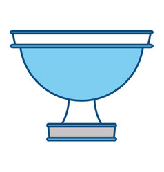 golden chalice isolated vector image