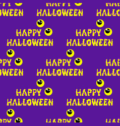 happy halloween background seamless with vector image