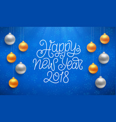 Happy new year typography on card vector