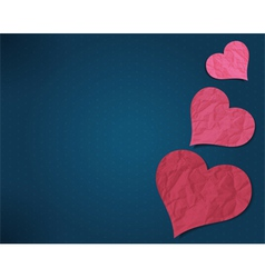 Hearts from old paper vector