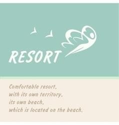 Logo of the resort vector