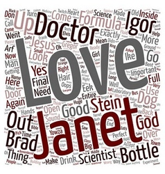 Love in a bottle text background wordcloud concept vector