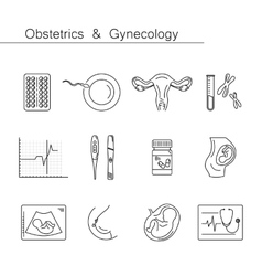 Medicine and pregnancy line icon vector