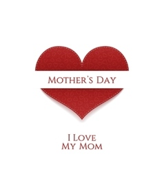 Mothers day heart greeting banner vector