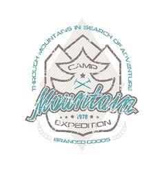 Mountain camp emblems for t shirt vector