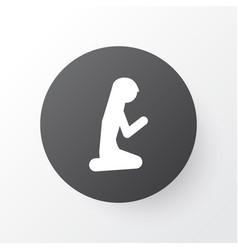 muslim female icon symbol premium quality vector image vector image