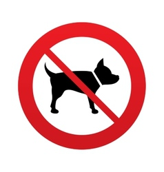 No dog sign icon pets symbol vector